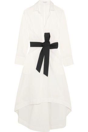 BRUNELLO CUCINELLI Belted cotton-blend midi dress