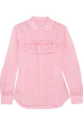 COMME DES GARÇONS GIRL Ruffle-trimmed gingham cotton-poplin shirt