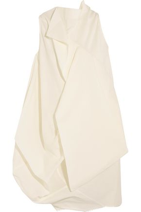 RICK OWENS Egret open-back layered crepe top