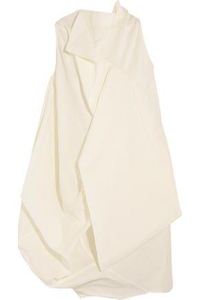 RICK OWENS Egret open-back layered crepe top