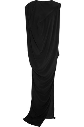 RICK OWENS Nouveau draped crepe maxi dress
