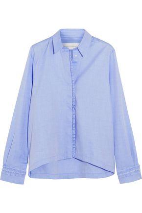 VICTORIA, VICTORIA BECKHAM Ruffled cotton-poplin shirt