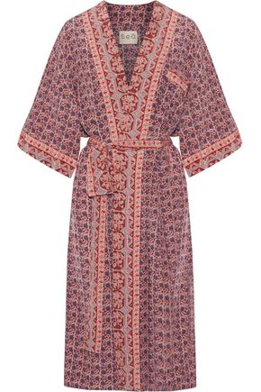 SEA Printed silk kimono
