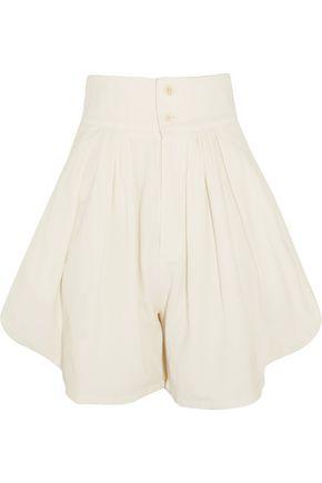 CHLOÉ Cotton and linen-blend shorts