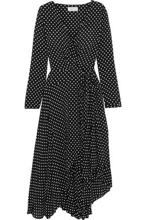 ZIMMERMANN Asymmetric polka-dot crepe wrap midi dress