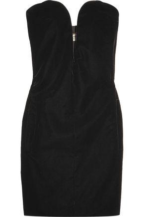 SAINT LAURENT Velvet mini dress