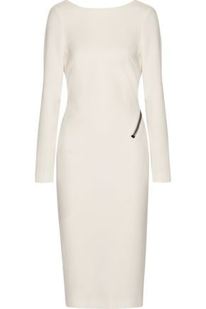 TOM FORD Open-back zip-detailed stretch-crepe dress
