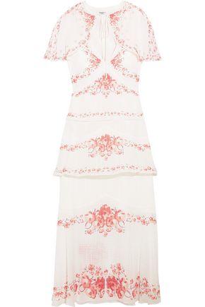 VILSHENKO Maya convertible floral-print silk-jacquard midi dress