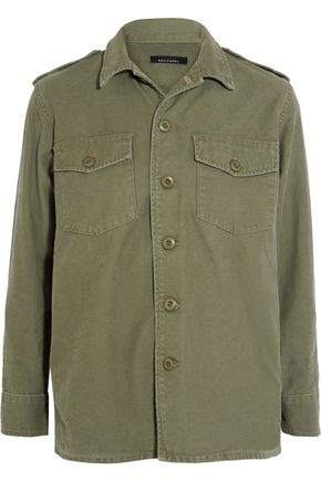 KATE MOSS EQUIPMENT Major washed cotton-canvas jacket