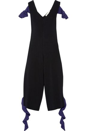 JONATHAN SIMKHAI Ruffled stretch-knit jumpsuit