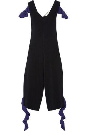 JONATHAN SIMKHAI Ruffled stretch-knit jumpsuit
