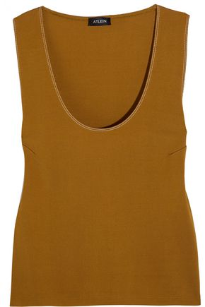 ATLEIN Topstitched jersey tank