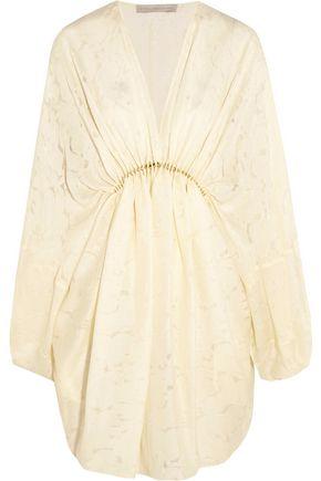 STELLA McCARTNEY Elitta draped fil-coupé satin mini dress