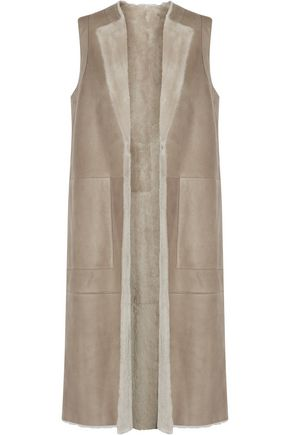 THEORY Skea reversible shearling vest