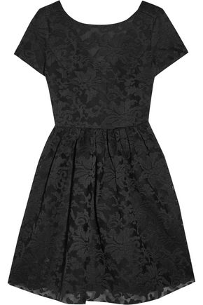 MAJE Embroided tulle mini dress