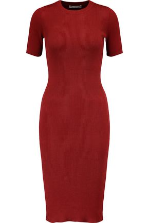 AUTUMN CASHMERE Ribbed cotton dress