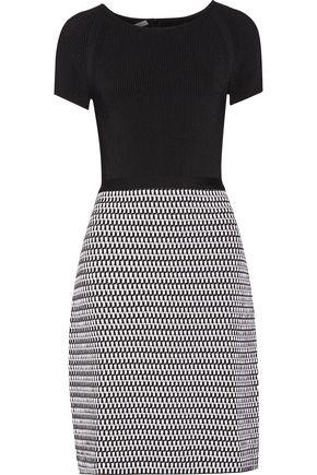 OSCAR DE LA RENTA Ribbed wool-blend dress