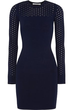 AUTUMN CASHMERE Perforated-paneled knitted dress
