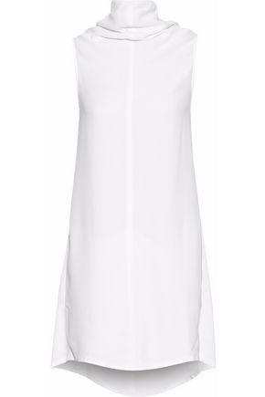 RICK OWENS Satin-trimmed draped crepe dress