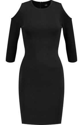 LINE Clark cold-shoulder stretch-knit dress