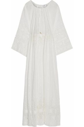 ZIMMERMANN Harlequin broderie anglaise cotton and silk-blend coverup