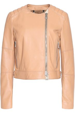 BELSTAFF Keswick quilted-paneled leather biker jacket