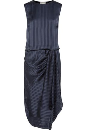 ZIMMERMANN Tarot draped striped crepe de chine dress