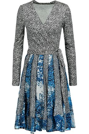 DIANE VON FURSTENBERG Caprice pleated printed silk wrap dress
