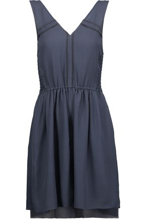 MARC BY MARC JACOBS Crystal shirred silk-crepe dress