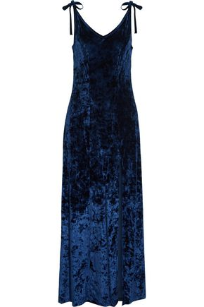 W118 by WALTER BAKER Owen crushed-velvet maxi dress