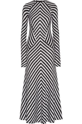 HAIDER ACKERMANN Striped stretch-knit maxi dress