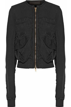 HAIDER ACKERMANN Paneled cotton-twill and cotton-blend jacket