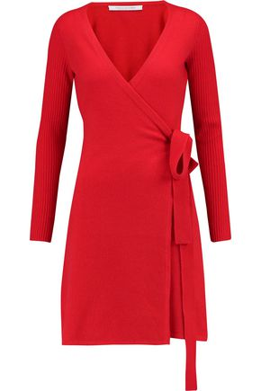 DIANE VON FURSTENBERG Kerry wool and cashmere-blend wrap dress