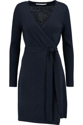 DIANE VON FURSTENBERG Kerry wool and cashmere-blend wrap dress