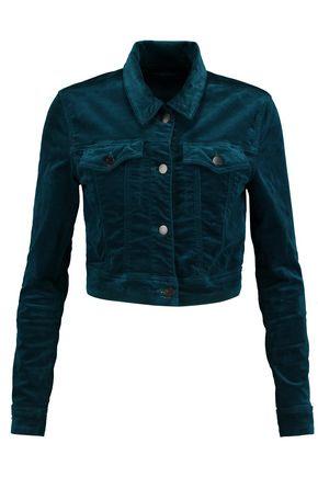 J BRAND Faye cotton-blend velvet jacket