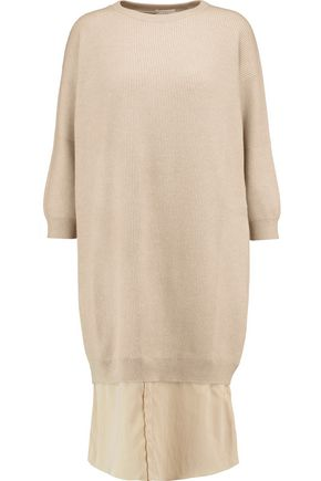 BRUNELLO CUCINELLI Ribbed cashmere dress