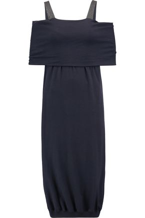 BRUNELLO CUCINELLI Embellished stretch cashmere-blend dress