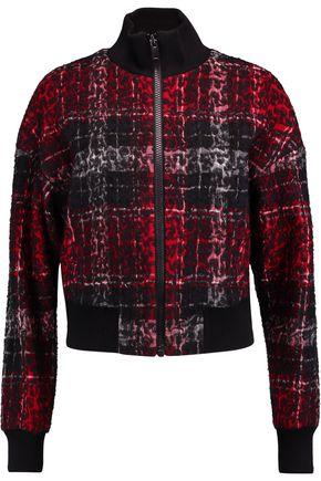DKNY Bouclé printed bomber jacket