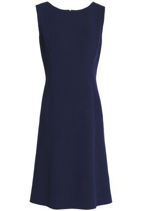 OSCAR DE LA RENTA Ruffled wool-blend dress