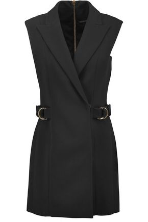 BALMAIN Wrap-effect crepe mini dress