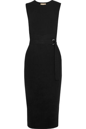 MICHAEL KORS COLLECTION Belted stretch-knit dress