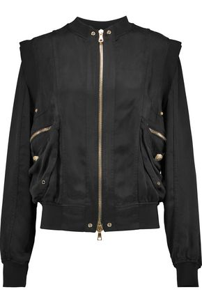 BALMAIN Satin-twill bomber jacket