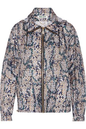 KENZO Printed shell hooded jacket