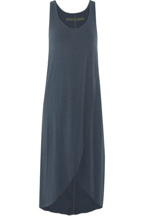 ENZA COSTA Tied-front jersey dress