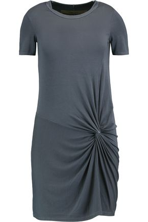ENZA COSTA Knotted stretch-jersey mini dress