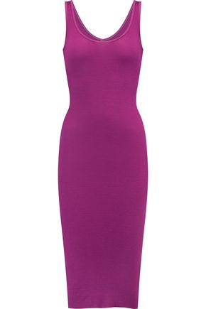 ENZA COSTA Ribbed jersey dress