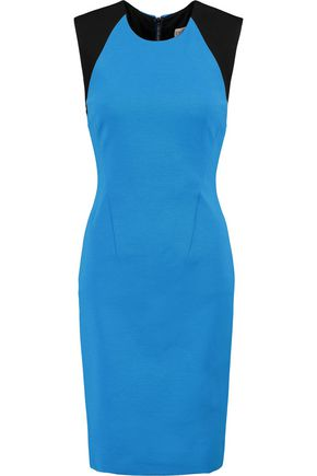EMILIO PUCCI Two-tone stretch-crepe dress