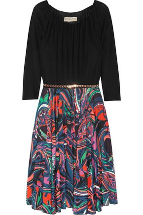 EMILIO PUCCI Pleated printed jersey dress