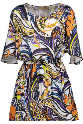 EMILIO PUCCI Printed cotton mini dress
