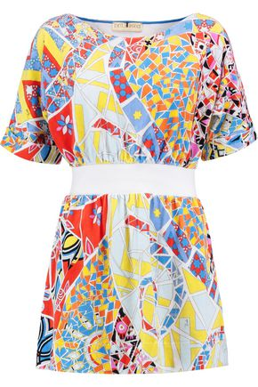 EMILIO PUCCI Printed cotton-terry coverup